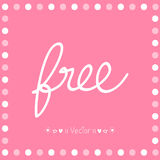 Vector of free tag, free sign, free label. Illustration EPS10 Stock Photography
