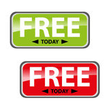 Vector free today two color  tags Stock Photography