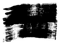 Vector freehand black paint, ink or acrylic hand made. Vector artistic freehand black paint, ink or acrylic hand made creative brush stroke background isolated Royalty Free Stock Images