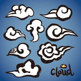 Vector: freehand brush clouds shapes collection Stock Photography
