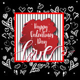 Vector freehand letters. `love` text doodles, valentine`s day stock illustration