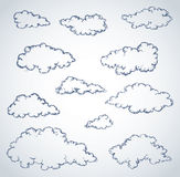 Vector freehand sketch. Clouds Stock Images