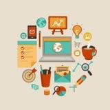 Vector freelance het werkconcept stock illustratie