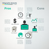 Vector freelance infographic elements Royalty Free Stock Photo