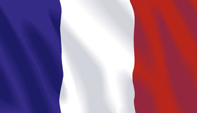 Vector French Flag. Waving flag of France in vector format Royalty Free Stock Photos