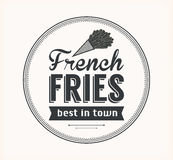 Vector French Fries Icon Royalty Free Stock Images