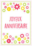 Vector french illustration birthday greeting card Stock Photos
