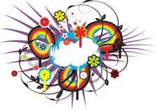 Vector fresco de la nube del resorte Imágenes de archivo libres de regalías