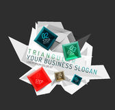 Vector fresh business abstract infographic Royalty Free Stock Photos
