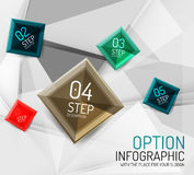 Vector fresh business abstract infographic Royalty Free Stock Images