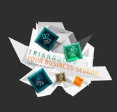 Vector fresh business abstract infographic Stock Photos