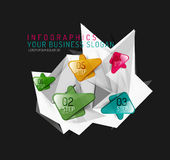 Vector fresh business abstract infographic Royalty Free Stock Photo