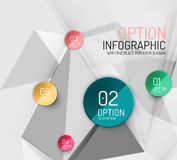 Vector fresh business abstract infographics Royalty Free Stock Image