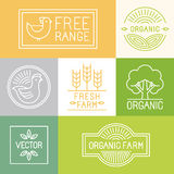 Vector fresh farm and free range labels Stock Photos