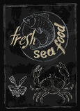 Vector fresh sea food Royalty Free Stock Photo
