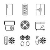 Vector fridge line icons set Stock Photography