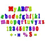 Vector fridge magnet alphabet spelling letters. Vector fridge magnet alphabet spelling ABC letters royalty free illustration