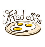 Vector Fried Eggs Stock Images