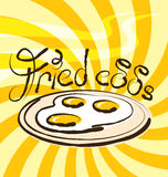 Vector Fried Eggs Royalty Free Stock Photos
