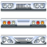 Vector Front and Rear Car Part Stock Images