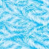 Vector. Frost Fir-Tree Seamless Pattern. Frost Fir-Tree Seamless Blue Pattern Stock Image