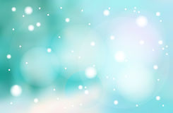 Vector frosty landscape. Winter holiday blurred blue background with snowflakes. Frosty landscape. Vector illustration Royalty Free Stock Image
