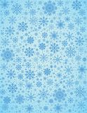 Vector frosty snowflakes background Royalty Free Stock Photography