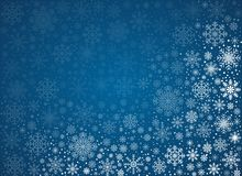Vector frosty snowflakes background Stock Image