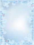Vector Frozen Christmas border Royalty Free Stock Image