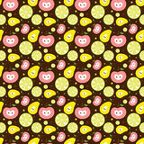 Vector fruit background Royalty Free Stock Photo