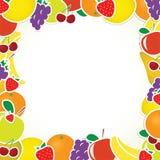 Vector fruit frame Stock Photo