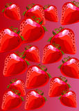 Vector fruit fresh leaf strawberry ripe. Berry Royalty Free Stock Photography