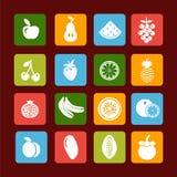 Vector fruit icon set - Illustration Royalty Free Stock Photo