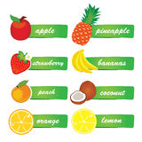 Vector Fruit Labels Royalty Free Stock Photos