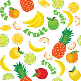 Vector Fruit Pattern Stock Photography