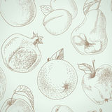 Vector Fruit pattern Stock Photo