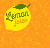 Vector fruit pattern Lemon Royalty Free Stock Image