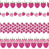 Vector fruit seamless line. Set of elements for design Royalty Free Stock Photo