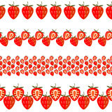 Vector fruit seamless line. Set of elements for design Stock Photos