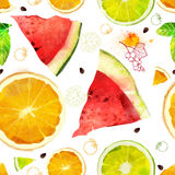 Vector Fruit Seamless Pattern Stock Photography