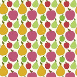 Vector fruit seamless pattern. Vector seamless pattern of fruit - apple and pear royalty free illustration