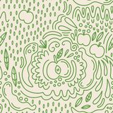 Vector fruit seamless pattern in Doodle style. Apples. Vector fruit seamless pattern in Doodle style royalty free illustration
