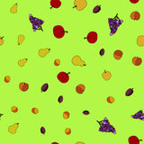 Vector fruit seamless pattern Royalty Free Stock Photos
