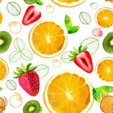 Vector Fruit seamless pattern Royalty Free Stock Image