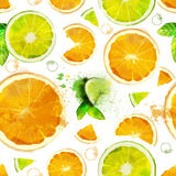 Vector Fruit seamless pattern Stock Images