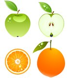 Vector fruits. stock illustration