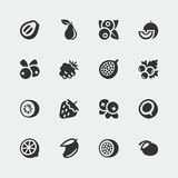 Vector fruits and berries icons set #2 Stock Photography