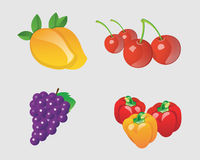 Vector fruits collection Royalty Free Stock Photography