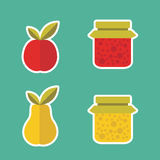 Vector  fruits  icons Stock Images