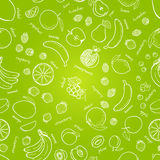 Vector fruits pattern. Fruits seamless background. Abstract background, Fruits seamless background. Vector fruits pattern. Seamless fruits pattern. Bright summer stock illustration